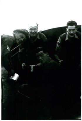 3 PARA sergeants serve early morning tea, Canal Zone,  Egypt.
