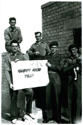 The I Section take it easy, 3 PARA, Shandur Camp, Canal Zone, 31/12/51.