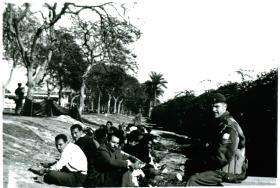 3 PARA serach for arms, Cpl Smith, Ismailia, Egypt, 21/1/52.