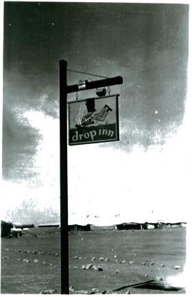 NAAFI sign, 3 PARA, Shandur camp, Canal Zone, 1952.