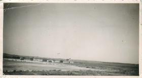 Glider lands at airstrip near Tel Aviv, 1946.