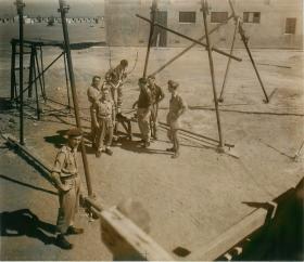 Troops ground training at Ramat David parachute school, Palestine 1947.