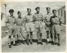 RAF parachute jump instructors at Ramat David parachute school, Palestine 1947.