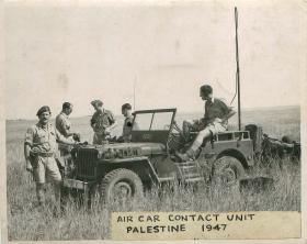 Air car contact unit in Palestine, 1947.