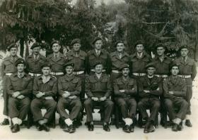 Group photo of HQ 3rd Parachute Brigade in Nazareth, 1947.