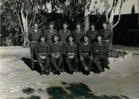 Maj-Gen Bols, Officer Commanding 6th Airborne Division with staff in Palestine.