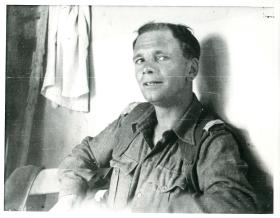 Captain Bill Wilson, adjutant 3rd Parachute Battalion on refresher course Aquin, 1947.