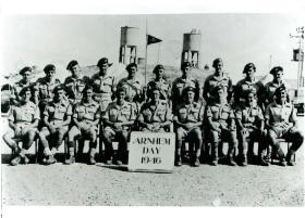 Group portrait of men who survived Arnhem on Arnhem Day, Palestine, September 1946