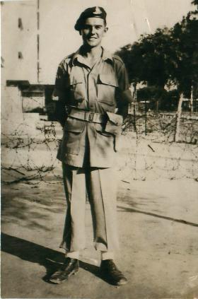 Soldier of 33rd Airborne Light Regiment, RA. Palestine, 1946.