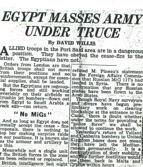 Article about the precarious nature of ceasefire in Port Said.