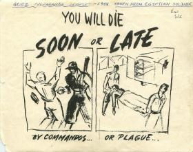 Propaganda leaflet taken from Egyptian soldier during Operation Musketeer.