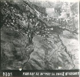 Aerial photo of Kakopetria, Cyprus, May 16th 1956.