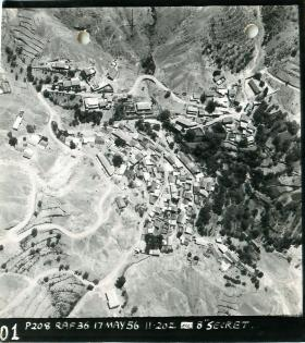 RAF reconnaissance photograph of Agridia, Cyprus, May 1956