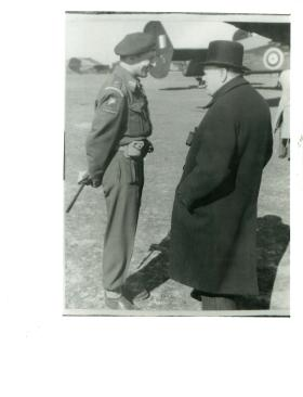 Frederick Browning speaking to Winston Churchill