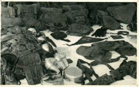 Indonesian equipment captured by 2 PARA, Borneo, 1965