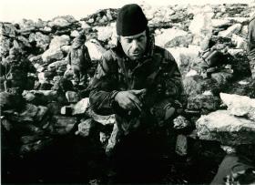 Major JH Crosland during the Falklands campaign.