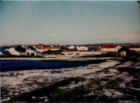 View of Darwin, Falklands 1982.