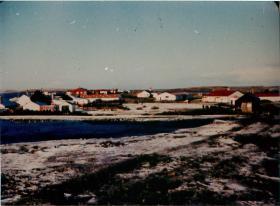 View of Darwin, Falklands 1982.