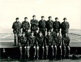 Group photo of 2 PARA Quarter Masters Department, Falklands.