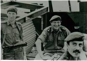 Battery Commander Major Tony Rice (left), H Jones (centre) and Captain Alan Coulson (right).