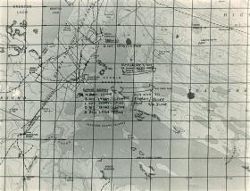Map showing progress of 2 PARA, 1982.