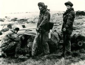 A Company, 2 PARA defensive position, Fitzroy.