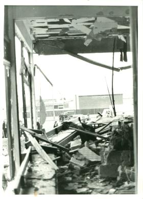 2 PARA's destroyed mess after the IRA bomb in 1972.