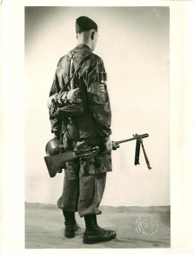 Equipped German paratrooper.