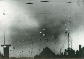 German paratroops at Ypenburg Military Airfield.