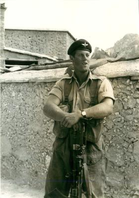Paratrooper from 2 PARA in Trapeza, Cyprus, October 1956.