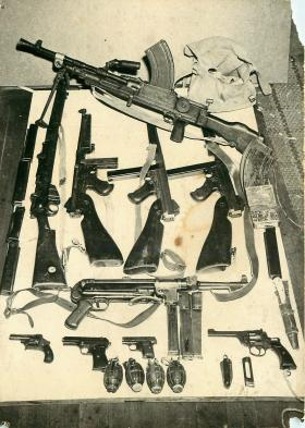 Arms cache found in Cyprus, 1956.
