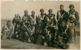 Shot of paratroopers just before emplaning at RAF Aqir, Palestine 1946.