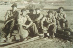 Members of 'A' Section 'I' Battery, Royal Horse Artillery, Thumier Airfield, Aden, 1964