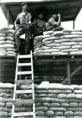 PARAs manning a checkpoint, Aden, 1967