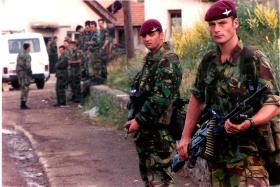 Soldiers from 2 PARA in Macedonia, Op Bessemer, 2001.