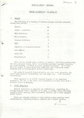 Medical report, Anguilla 1969.