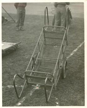 An airborne trolley in use.