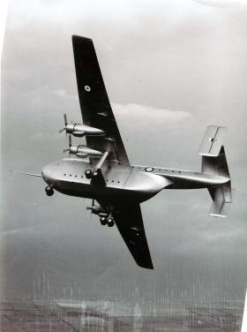 Blackburn Beverley aircraft in flight.