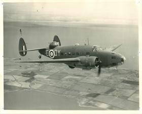 Lockheed Hudson aircraft in flight.