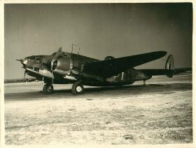 Lockheed Hudson aircraft on the ground.