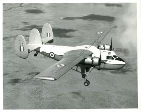 Prestwick Twin Pioneer aircraft in flight.