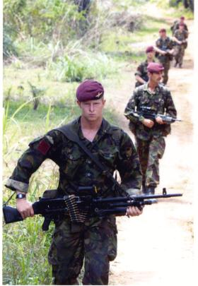 Paras on patrol in Sierra Leone, 2000