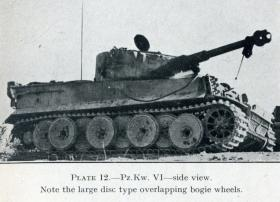 German Tiger Tank destroyed in Tunisia