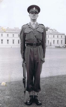 RSM JC Lord at Sandhurst, c.1950s