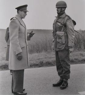 HM The King and RSM JC Lord, 16 March 1944