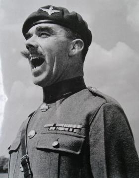 RSM JC Lord in full voice, taken on leaving the Regiment for RMAS, 1947