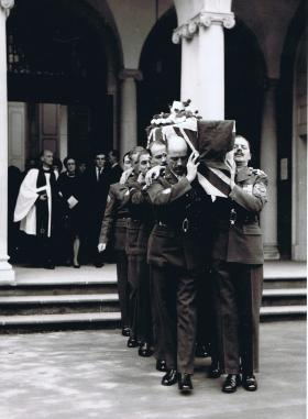The Funeral of RSM JC Lord, 1968