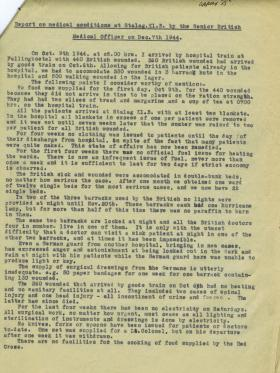 Report on Medical Conditions within Stalag XIB, 1944