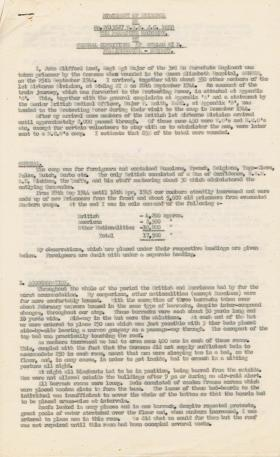 Statement of Evidence by RSM Lord on Conditions within Stalag XIB, 1945