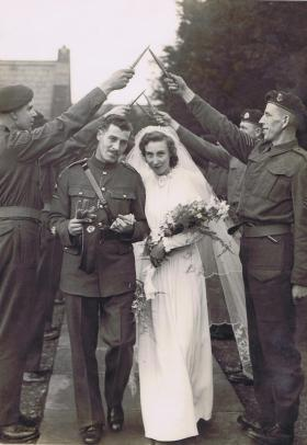 RSM WB Gray with the new Mrs Gray, c.1942